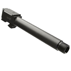 "SilencerCo Replacement GLOCK 17 9mm Luger Barrel Threaded 1/2""x28 Machined 416R Stainless Steel Nitride Finish Matte Black AC864"