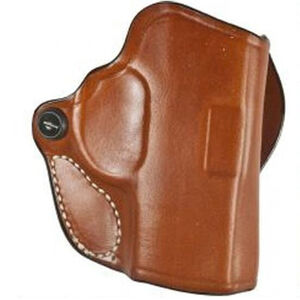 """DeSantis Mini Scabbard Holster fits Ruger MAX-9 Right Hand up to 1.5"""" Belt Leather Tan"""