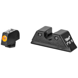 Trijicon HD-XR Night Sight Set fits GLOCK 17/22/25/31/37 MOS Models Green Tritium Orange Outline Steel Housing Matte Black Finish