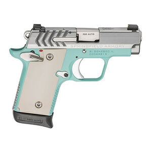 "Springfield Armory 911 .380 ACP Semi Auto Pistol 2.7"" Barrel 6 Rounds Stainless Steel Slide High Polish And Vintage Blue Cerakote Finish"