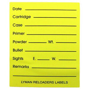 """Pachmayr Reloader's 2""""x2.5"""" Labels 40 Per Pack 4026750"""