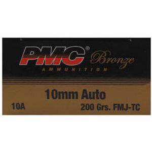 PMC Bronze 10mm Auto 200gr FMJ TC 1050 fps 50 Rounds