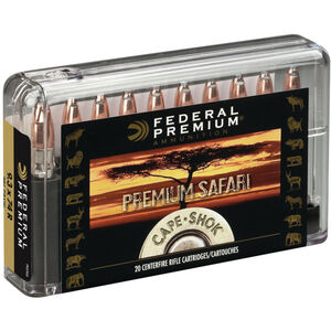 Federal .470 Nitro Express Ammunition 20 Rounds 500 Grain Swift A-Frame 2150fps