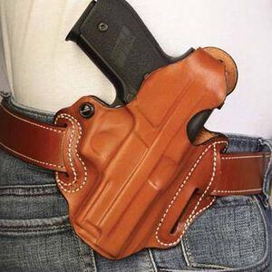 "DeSantis Thumb Break Scabbard Belt Holster S&W L Frame 3"" Barrel Right Hand Leather Tan Finish 001TA33Z0"