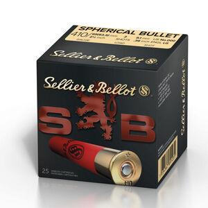 """Sellier & Bellot Spherical Bullet .410 Gauge Ammunition 500 Rounds 2 1/2"""" 000 Buck 3 Shots SB410A"""