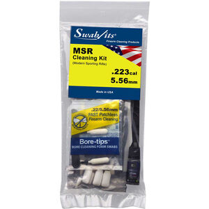 Swab-Its .223/5.56 Modern Sporting Rifle Cleaning Kit, Lint Free, Reusable