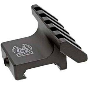GG&G 45 Degree Offset Accessory Rail Five Slot Aluminum Black GGG-1526