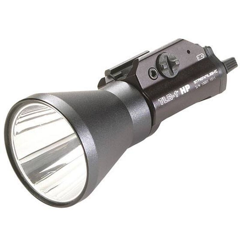 Streamlight TLR-1s HP Tactical LED Weapon Light 200 Lumen Remote Door Switch Picatinny Rail CR123A Black 69216