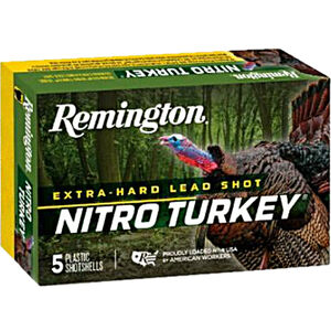 "Remington Nitro Turkey 12 Gauge Ammunition 5 Rounds 3-1/2"" Shell #4 Lead Shot 2oz 1300fps"