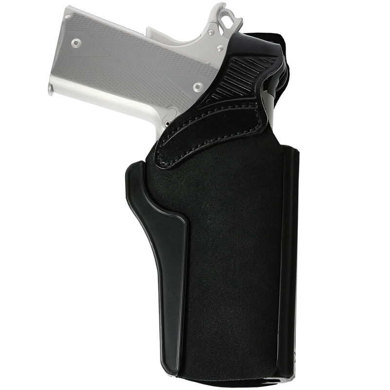 "Galco Wraith 2 Paddle Holster Fits Colt 1911 with 5"" Barrel and Similar Accommodates Most Carry Style Red Dots Right Hand Leather/Polymer Black"