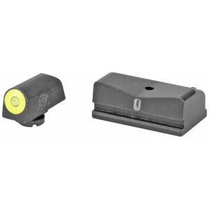XS Sights DXT2 Big Dot Night Sights Walther CCP/PPS/PPS M2 Green Tritium Front With Yellow Ring/Tritium Stripe Rear Matte Black