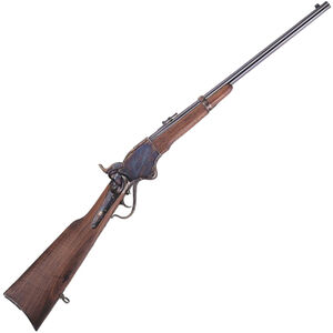 """Cimarron 1865 Spencer Repeating Carbine Lever Action Rifle 45 LC 20"""" Barrel 7 Rounds Walnut Stock Blued"""
