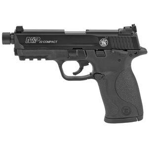 "S&W M&P22 Compact .22 LR Semi Auto Pistol  3.5"" Threaded Barrel 10 Round Polymer Frame Black Finish"