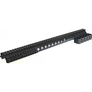Aimtech Warhammer Gen 1 Extended Rail System with Shell Carrier Remington 870 12 Gauge Tactical and Field Models Picatinny Rail Machined Aluminum Matte Black