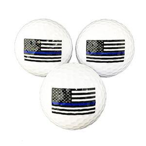 Thin Blue Line American Flag Golf Balls 3 Pack