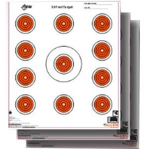 """Allen Company EZ Aim Paper 11 Spot Indoor Target 12""""x12"""" Orange 13 Pack"""
