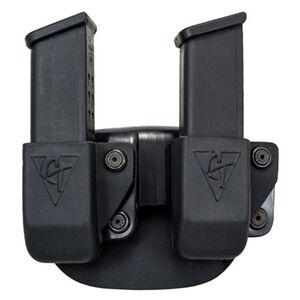 Comp-Tac Twin Magazine Pouch Paddle Left Side Carry Fits CZ 75 Kydex Black