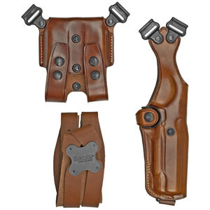 Galco Vertical Shoulder Holster System For GLOCK 17, 19, 22, 23 Ambidextrous Leather Tan VHS3226