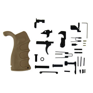 TacFire .308 AR Lower Parts Kit With Tan Grip LPK02T-308