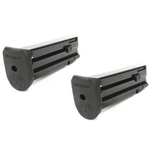 Ruger SR22 Magazine 10 Rounds .22 Long Rifle Steel Construction Extended Polymer Floor Plate Blued Finish 2 Pack