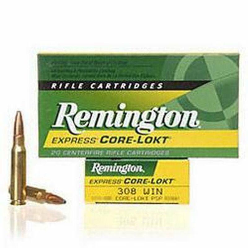 Remington Express .308 Winchester Ammunition 20 Rounds 180 Grain Core-Lokt PSP Soft Point Projectile 2620fps