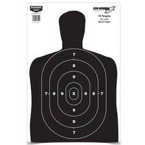 """Birchwood Casey Eze-Scorer 12""""x18"""" BC-27 Paper Target Indoor/Outdoor White 10 Pack 37202"""