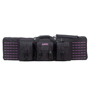 "Voodoo Tactical 42"" Padded Weapons Case Nylon Black/Purple"