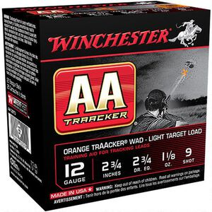 "Winchester 12 Gauge Ammunition 250 Rounds 2.75"" TrAAcker #9 Lead Shot"