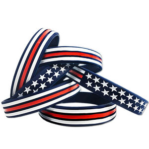 Thin Blue Line Red, White, and Blue American Bracelet