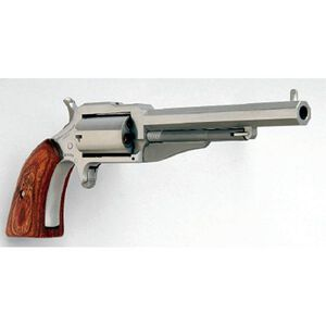 """North American Arms 1860 Earl Single-Action Revolver .22 Magnum 4"""" Barrel 5 Rounds Wood Grips Stainless Finish"""