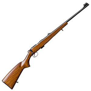 "CZ USA CZ 455 Standard Bolt Action Rifle .22 LR 20.6"" Barrel 5 Rounds Adjustable Sights Beechwood Stock Blued Metal Finish"