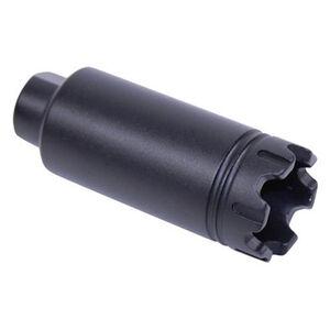 Guntec AR-15 Slim Line Trident Flash Can With Glass Breaker 5.56/.223 Caliber 1/2x28 TPI Aluminum Black