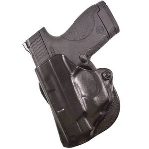 DeSantis Mini Scabbard Belt Holster For GLOCK 43 Left Hand Leather Black 019BB8BZ0