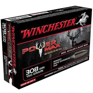Winchester Power Max .308 Winchester Ammunition 150 Grain Bonded PHP 2820 fps