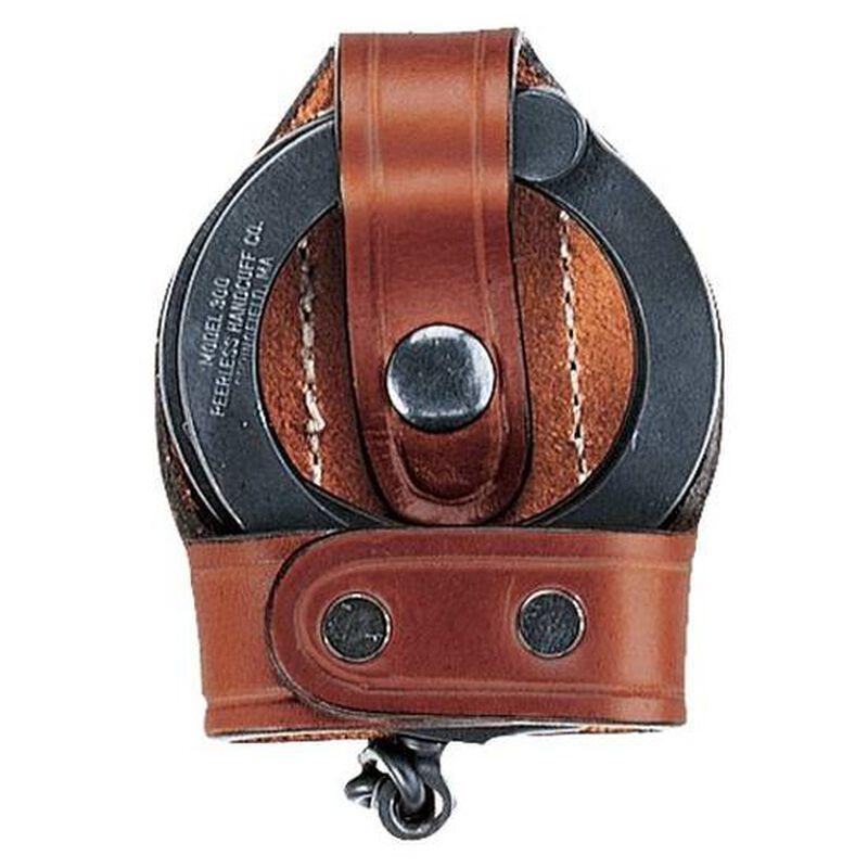 Aker Leather Open Top Handcuff Case Black