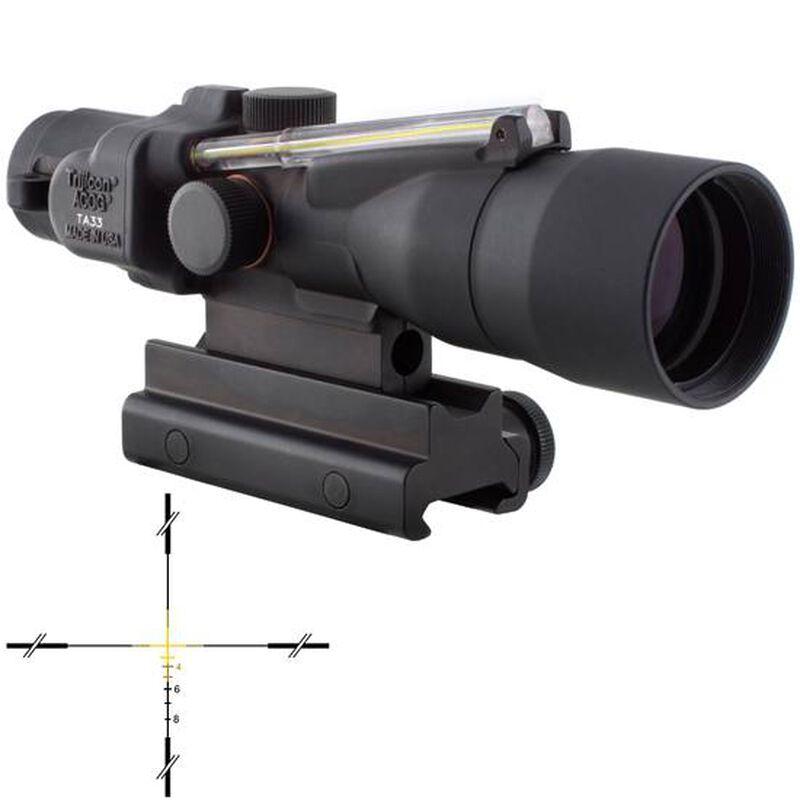 Trijicon 3x30 Compact ACOG BAC Scope Dual Illuminated Green Crosshair .308 Winchester 168 Grain Ballistic Reticle With TA60 Flattop Mount
