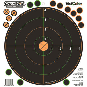 """Champion Traps & Targets VisiColor Adhesive 100 yard Sight In Target 8.5""""x9"""" 5 Pack"""