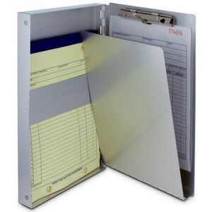 "Saunders Snapak Form Folder 8514 8.5""x14"" 3/8"" Thick Recycled Aluminum Side Opening 10519"