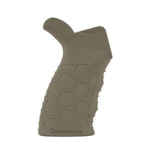 Hexmag AR-15/AR-10 Rubber Tactical Grip Hexture Design Pattern Ergonomic Finger Grooves Flat Dark Earth