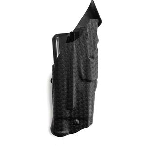 Safariland 6390 GLOCK 17, 22 with Tactical Light, ALS Duty Retention Holster, Mid-Ride, Right Hand, STX Basket Weave Black