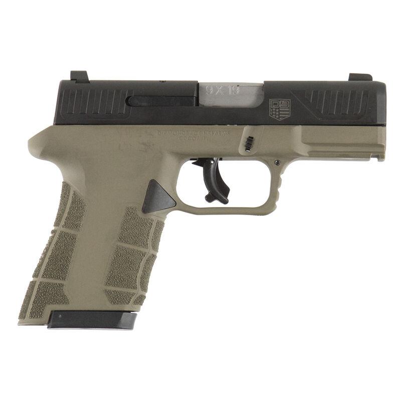 "Diamondback AM2 9mm Semi Auto Pistol 3.5"" Barrel 17 Rounds 3 Dot Sights Nitride Slide FDE Polymer Frame"