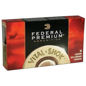 Federal Premium Vital-Shok .243 Winchester Ammunition 20 Rounds 85 Grain Vital-Shok Trophy Copper Lead Free Bullet 3200fps