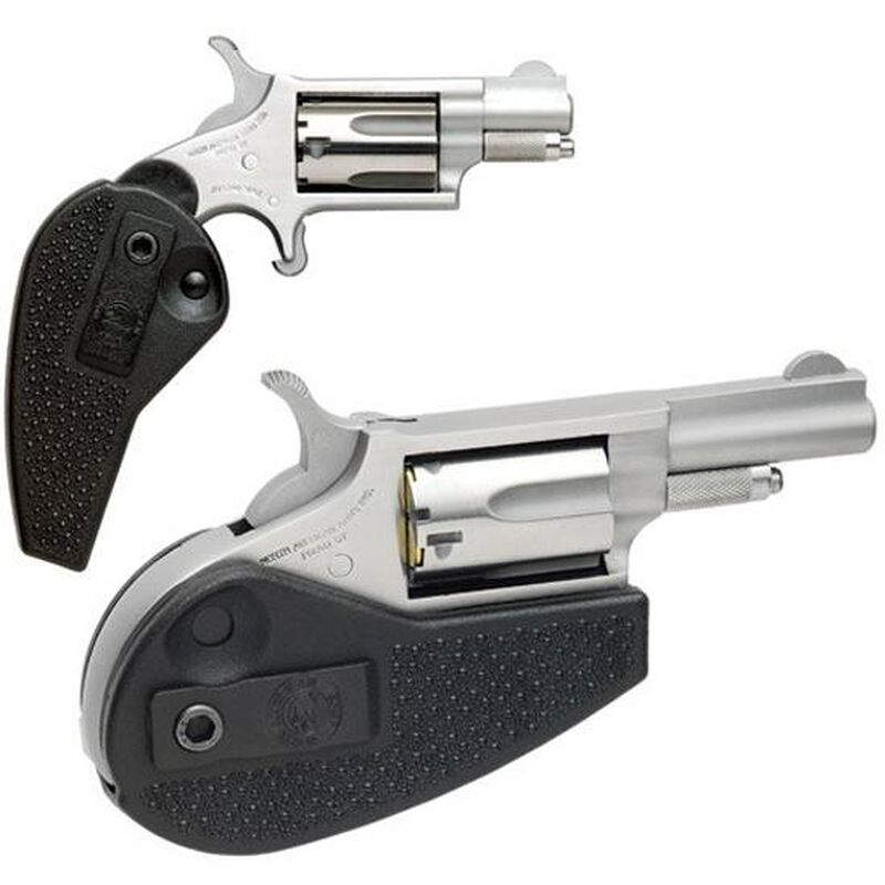 "NAA Mini Revolver .22 LR 1-5/8"" Barrel 5 Rounds Holster Grip Stainless Steel Frame & Finish"