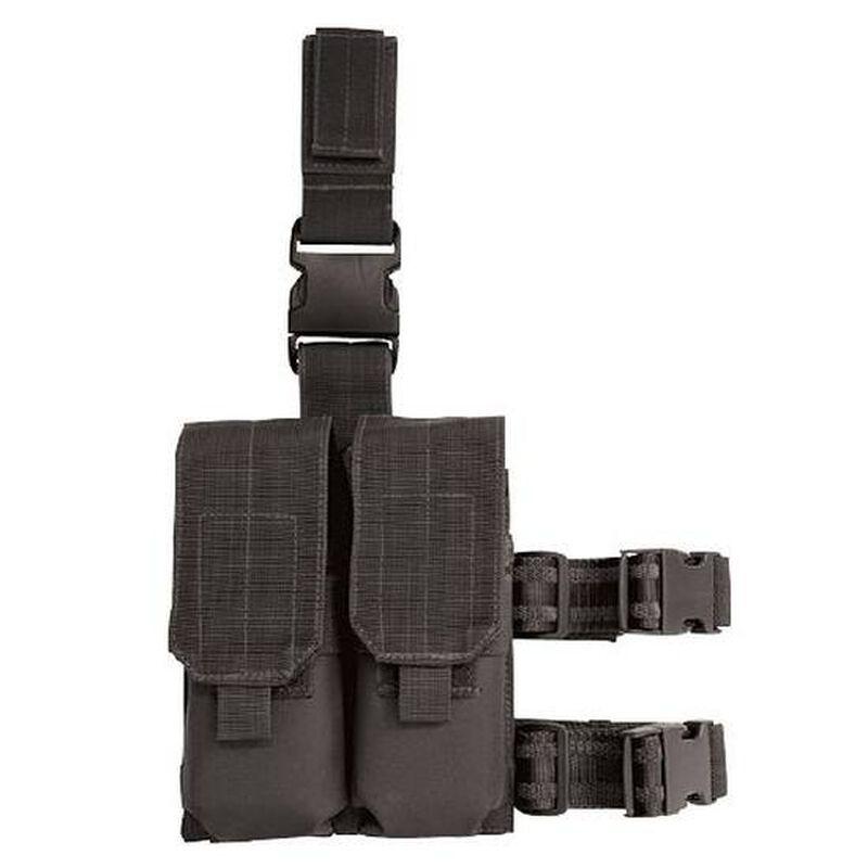 Voodoo Tactical Drop Leg Platform with M4/M16 Double Mag Pouch Black
