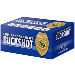 """NobelSport LE 12 Gauge Ammunition 10 Rounds 2.75"""" Lead #4 Buck ANS124BK10"""