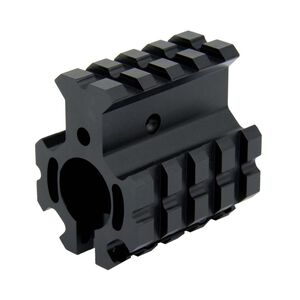 TacFire AR .750 Clamp On High Profile Quad Rail Gas Block Aluminum Black MAR005-H