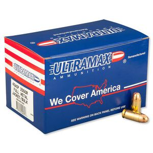 Ultramax .45 ACP Ammunition 250 Rounds FMJ 230 Grains ABI45R5-250