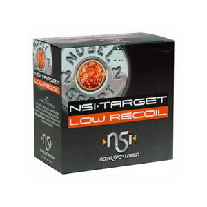"""NobelSport Target Low Recoil 12 Gauge 2-3/4"""" #8 Lead 7/8 Ounce 25 Round Box"""