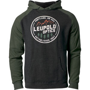 Leupold Established 1907 Long Sleeve Hoodie Cotton/Poly Blend Charcoal/Green