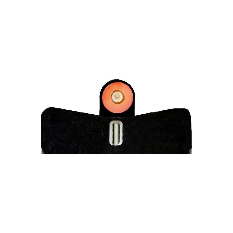 XS Sights DXT2 Big Dot Night Sights M&P Shield EZ 9 Green Tritium Front With Orange Ring / Tritium White Stripe Rear Matte Black SW-0032S-5N